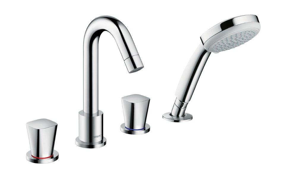 Смеситель для ванны из коллекции сантехники и аксессуаров Hansgrohe LOGIS