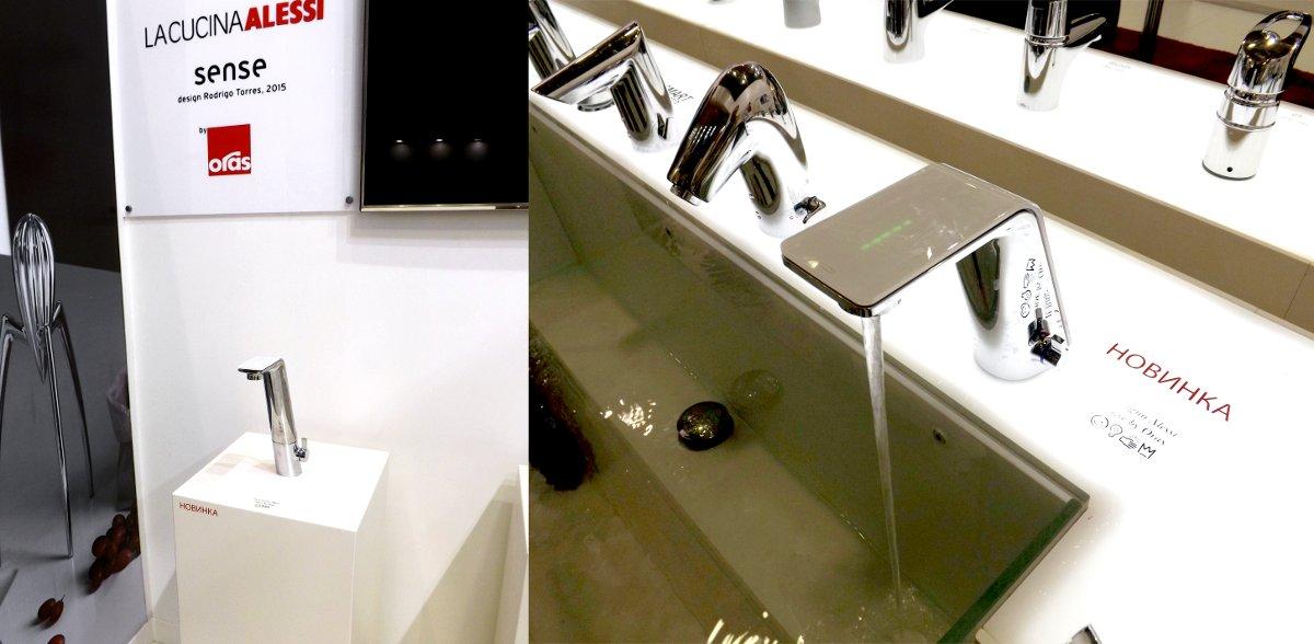 Смесители для кухни и ванной из коллекции Oras SENSE на выставке МосБилд-2015