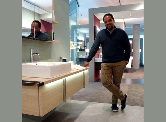 Саноборудование для ванной из серии Duravit VERO, и автор мебели к нему - Курт Мерки