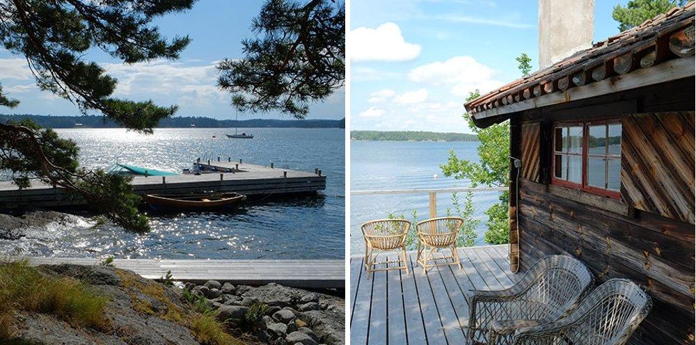 Фотографии с места съёмок иллюстраций для календаря Hansgrohe 2015 - побережье шведского архипелага
