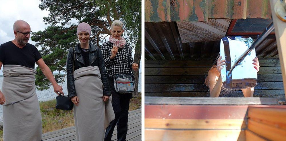 Фотографии с места съёмок иллюстраций для календаря Hansgrohe 2015 - мгновения съёмок - Серж Герон слева