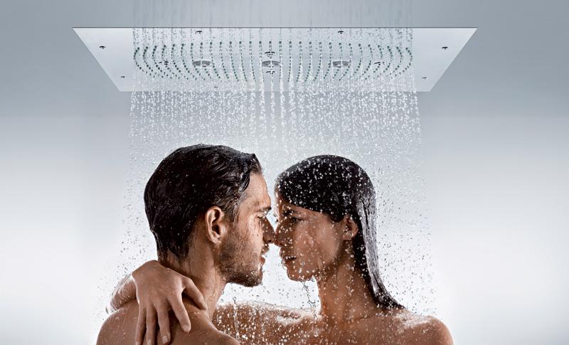 Верхняя душевая лейка Hansgrohe Raindance Rainmaker. Вид Д
