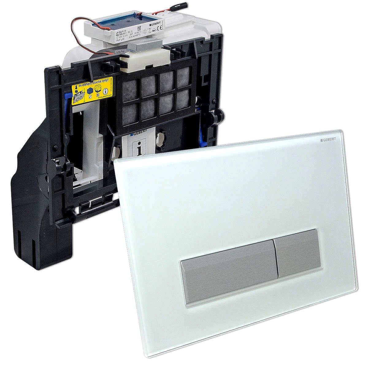 Общий вид клавиши Sigma 40 для системы Geberit DuoFresh. Один из нескольких вариантов дизайна внешней панели