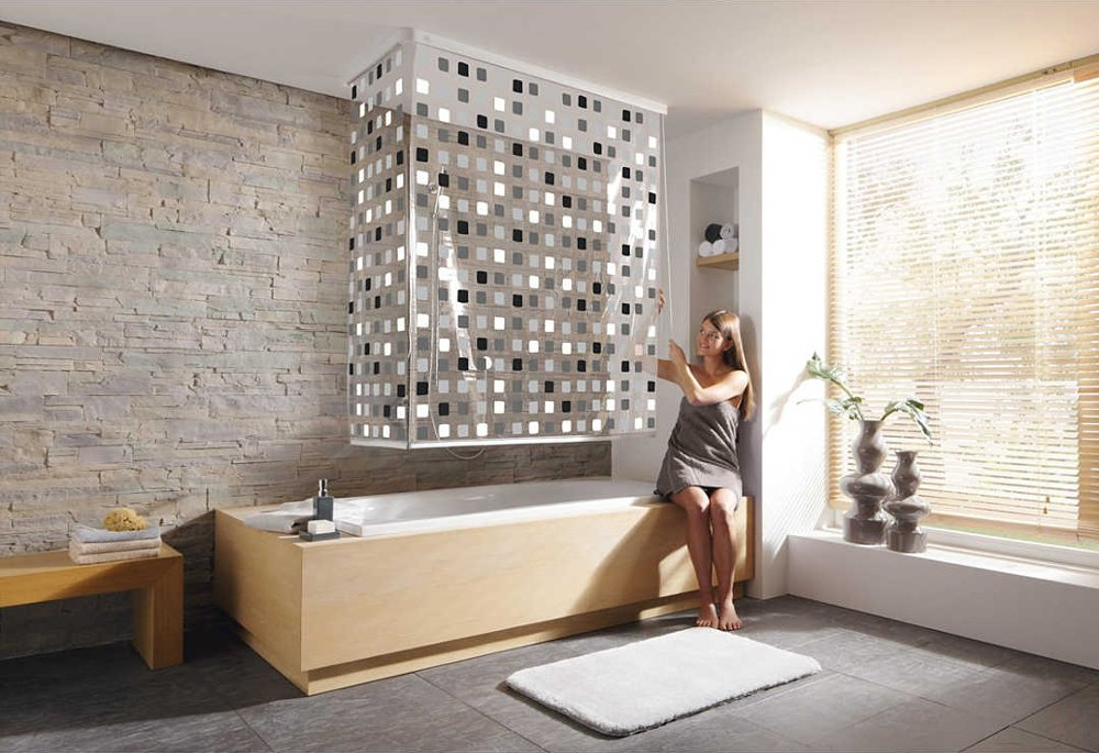 Аксессуары от Kleine Wolke в интерьере ванной комнаты