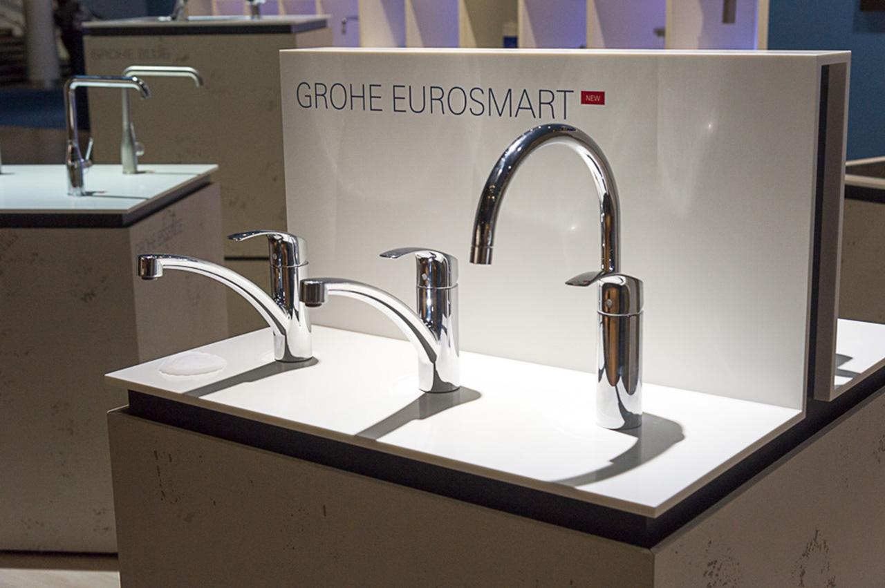 Новинки кухонных смесителей из серии EUROSMART от Grohe на выставке ISH 2015