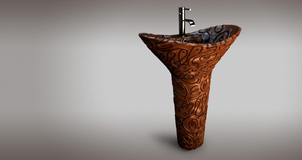 Шоколадный умывальник: иллюстрация из проекта Bathroomsweets