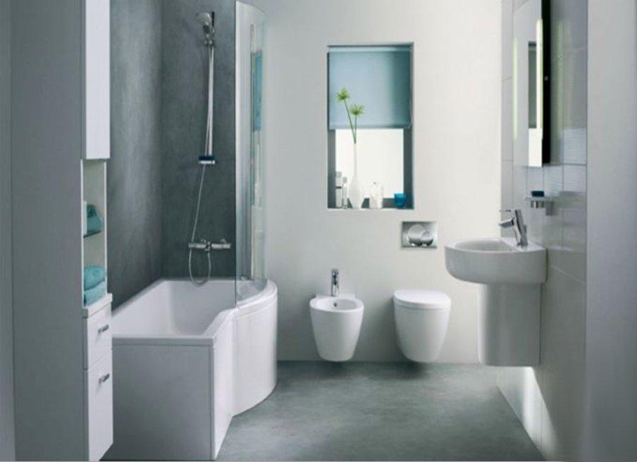 Как маленькие ванные комнаты могут выглядеть большими. Светлые тона увеличивают