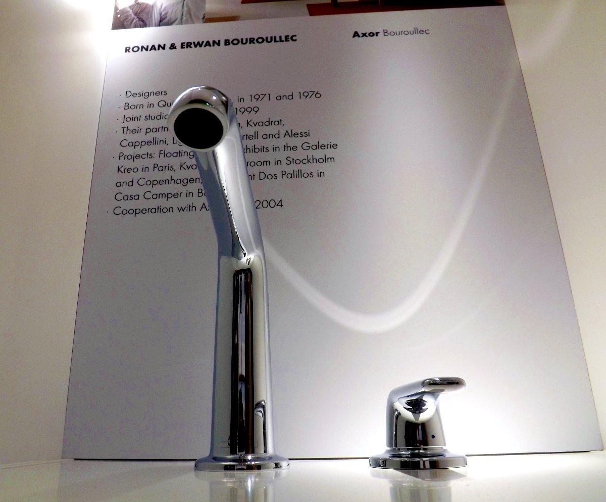 Смеситель для раковины из коллекции Axor BOUROULLEC на выставке МосБилд-2013