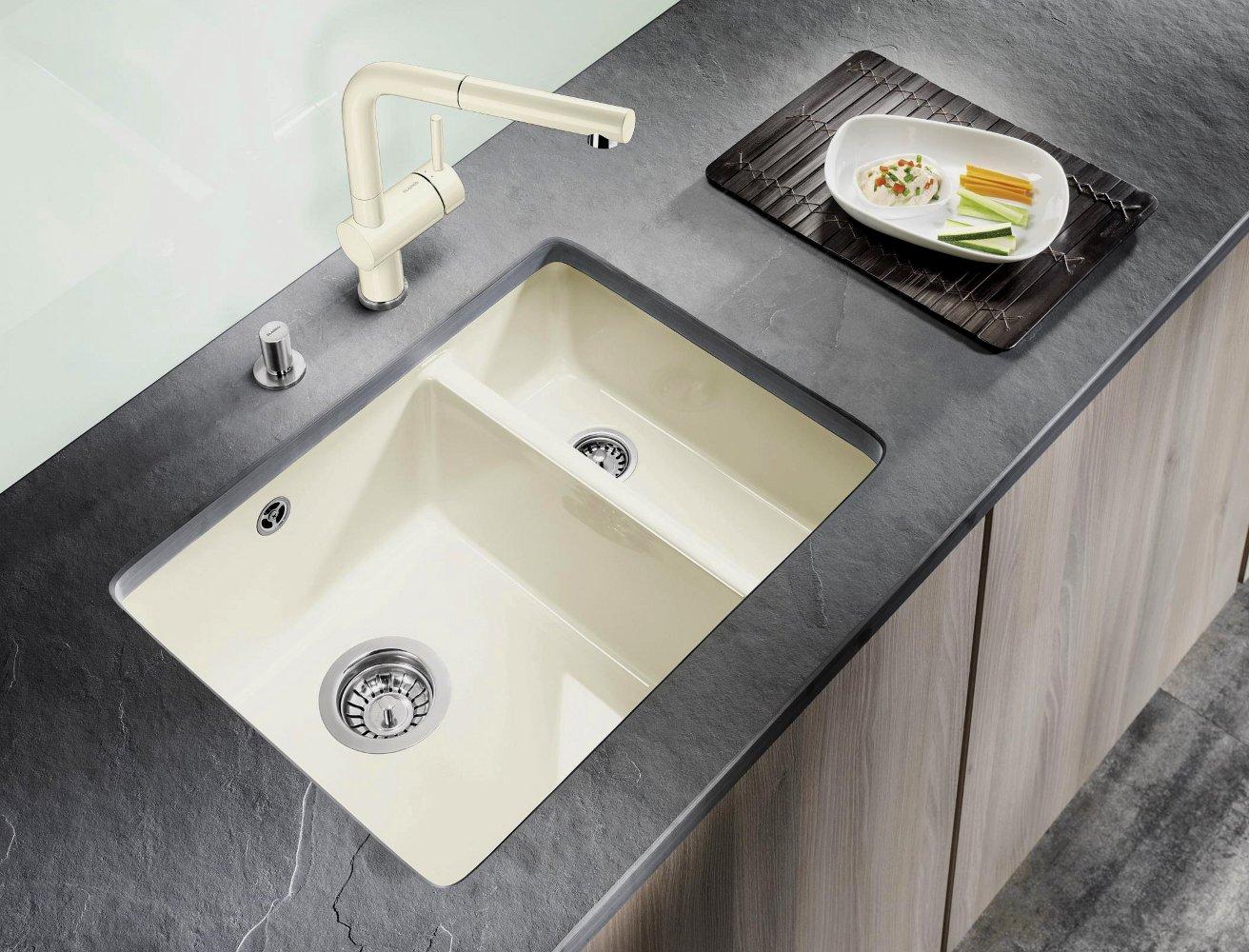 Керамическая кухонная мойка Blanco SUBLINE 350/150-U