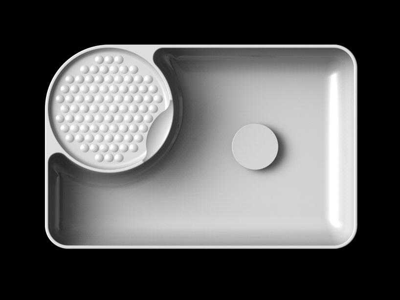 Прямоугольная раковина из SaphirKeramik от Laufen - 2014, спроектированная Константином Грчичем