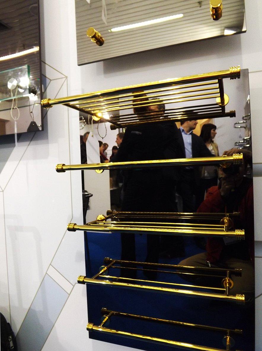 Электрические полотенцесушители из серии СТРАТУМ от компании Сунержа на выставке МосБилд 2014