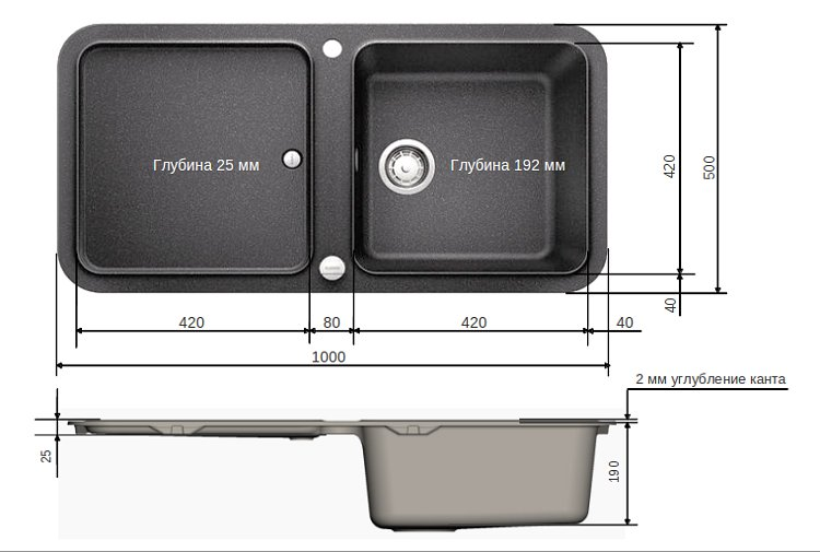 Кухонная мойка Blanco YOVA XL 6 S: размеры