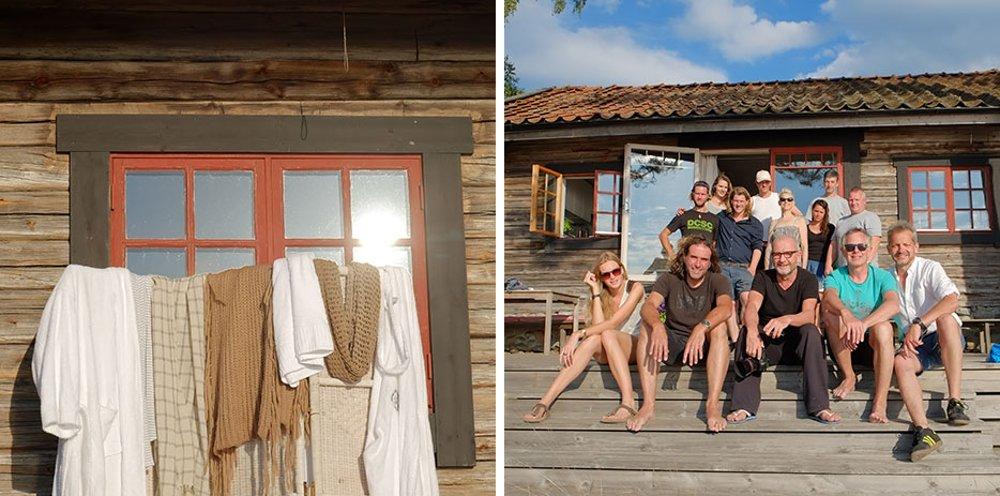 Фотографии с места съёмок иллюстраций для календаря Hansgrohe 2015 - съёмочная группа