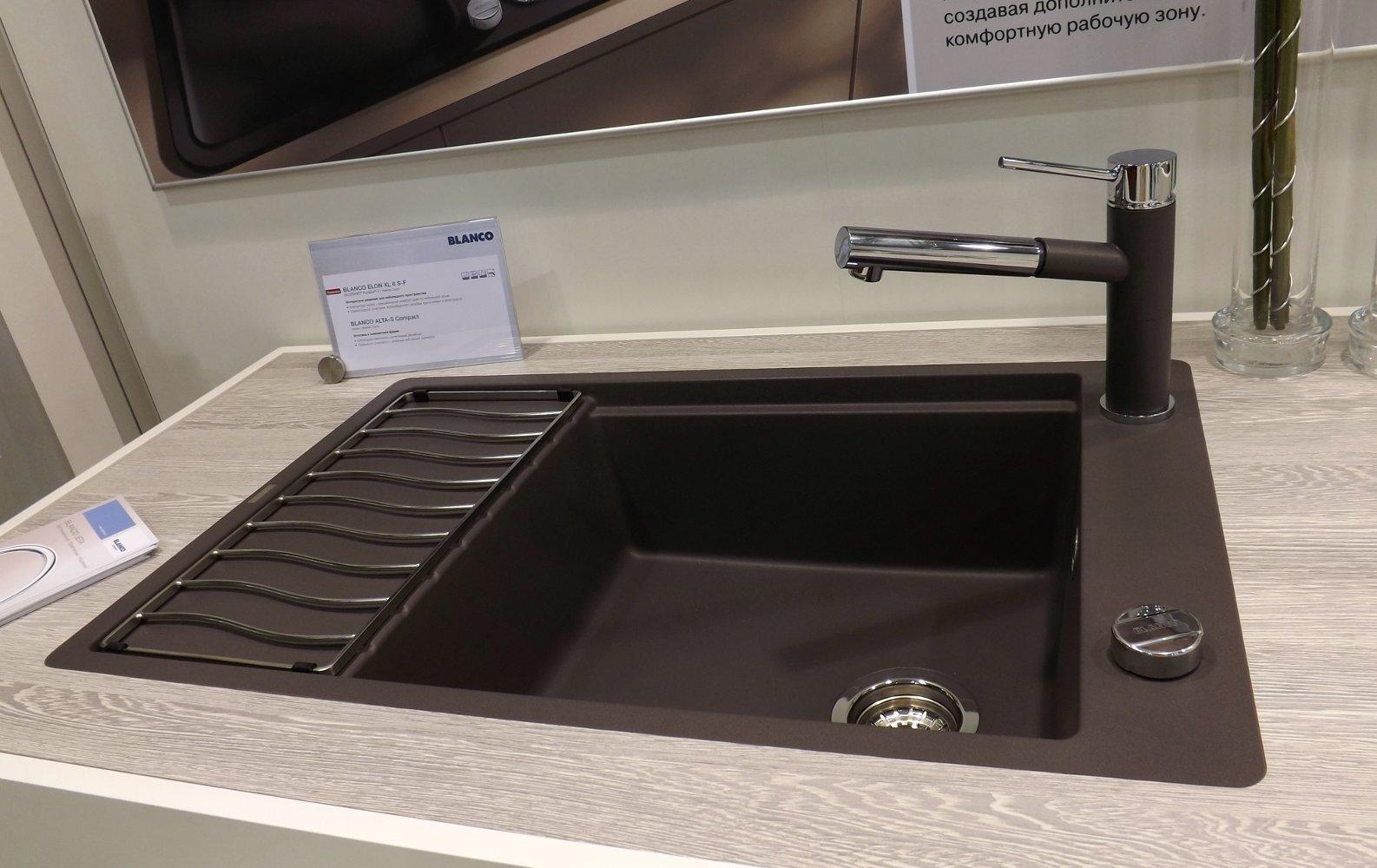 Кухонная мойка ELON XL 6 S-F и смеситель ALTA-S Compact. Вид А