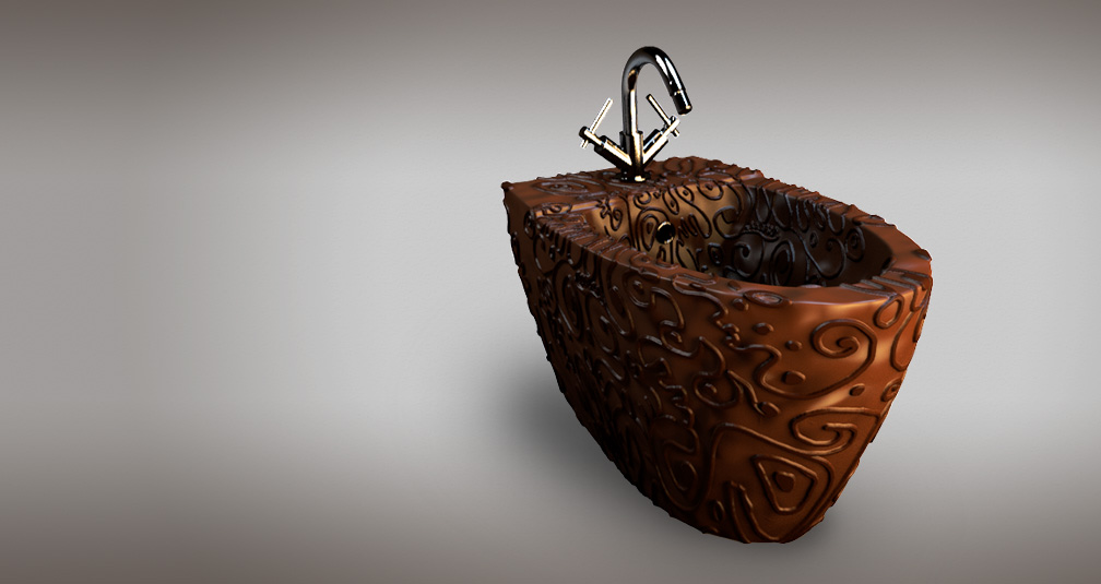 Шоколадное биде: иллюстрация из проекта Bathroomsweets