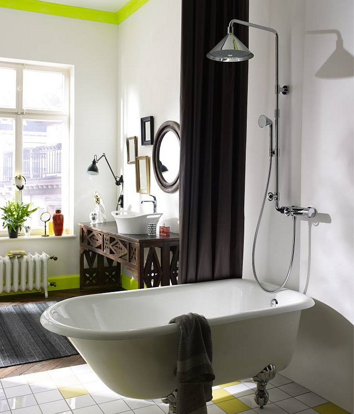 Коллекция для душевой Hansgrohe Axor ShowerPipe от Front в интерьере