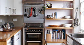 Иллюстрация к советам от Grohe по обустройству малогабаритных кухонь: продуманный проект