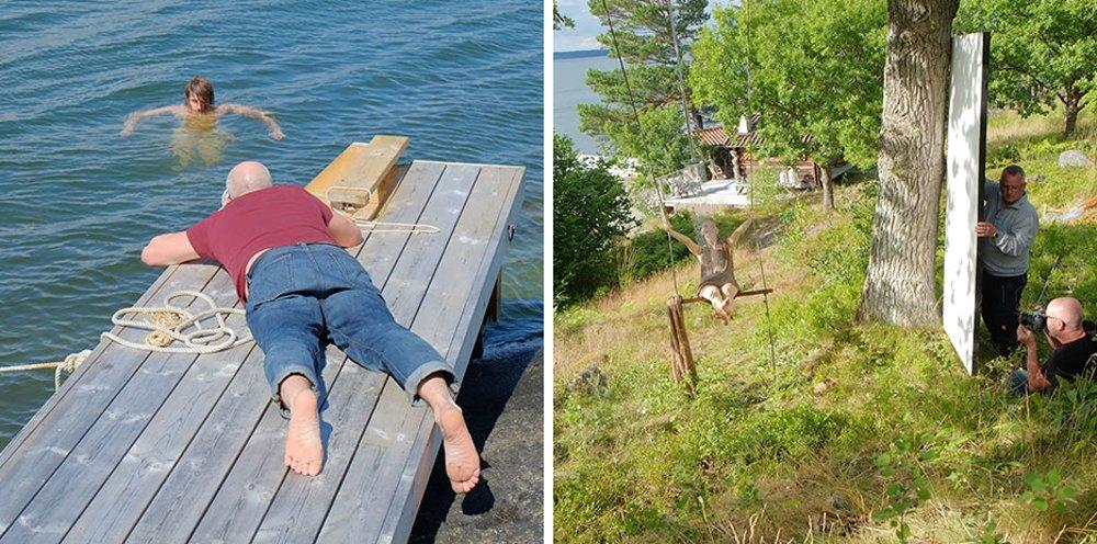 Фотографии с места съёмок иллюстраций для календаря Hansgrohe 2015 - моменты съёмок