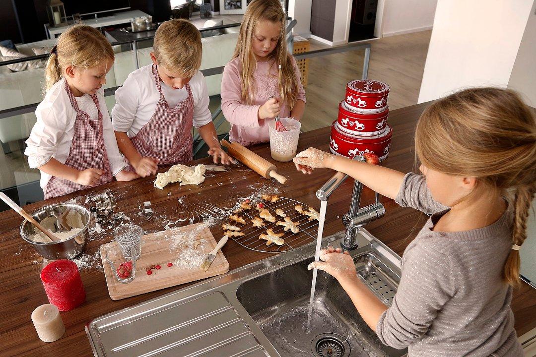 Кухонный смеситель MINTA TOUCH от Grohe в интерьере