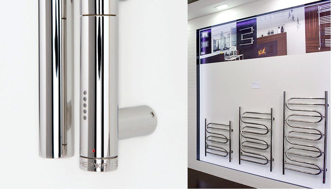 Многофункциональный Электрический Модуль (МЭМ) «Сунержа» и полотенцесушители оборудованные им, и представленные на международной строительной выставке «МосБилд 2016»