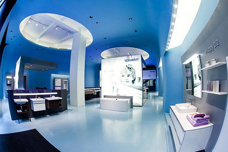 Шоурум Duravit в Нью-Йорке (США), где представлена санкерамика этой немецкой компании