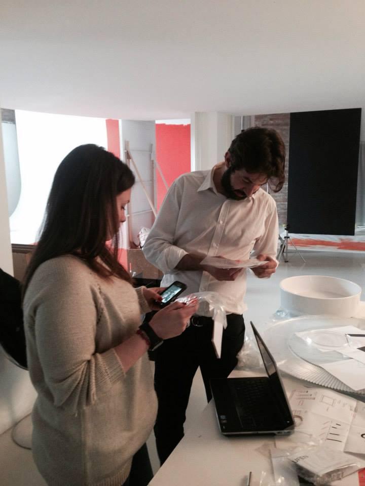 Подготовка стенда Laufen на выставке DEL MOBILE 2014 в Милане