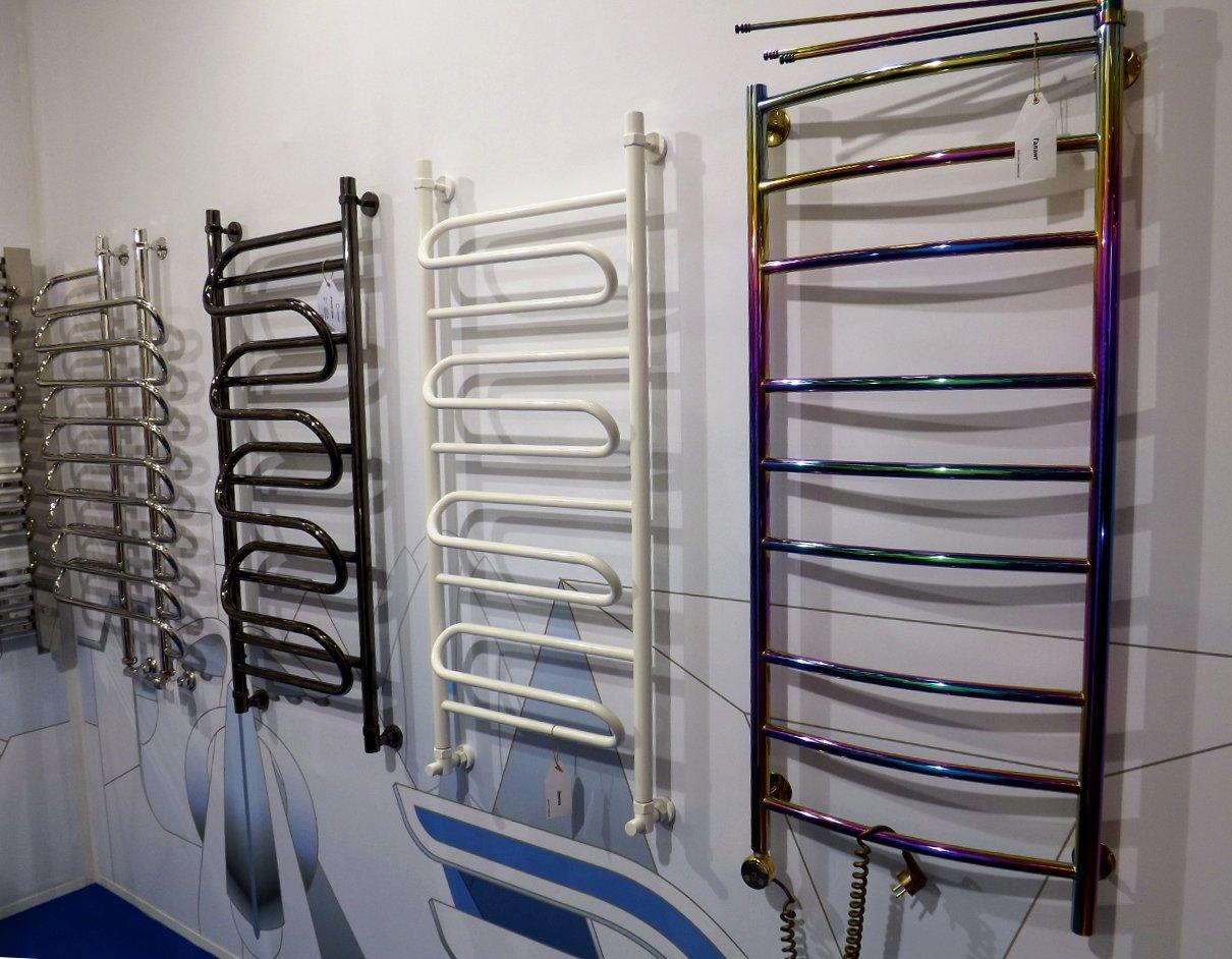 Полотенцесушители Сунержа на московской выставке МосБилд 2014. Варианты декоративных покрытий и окрашивания