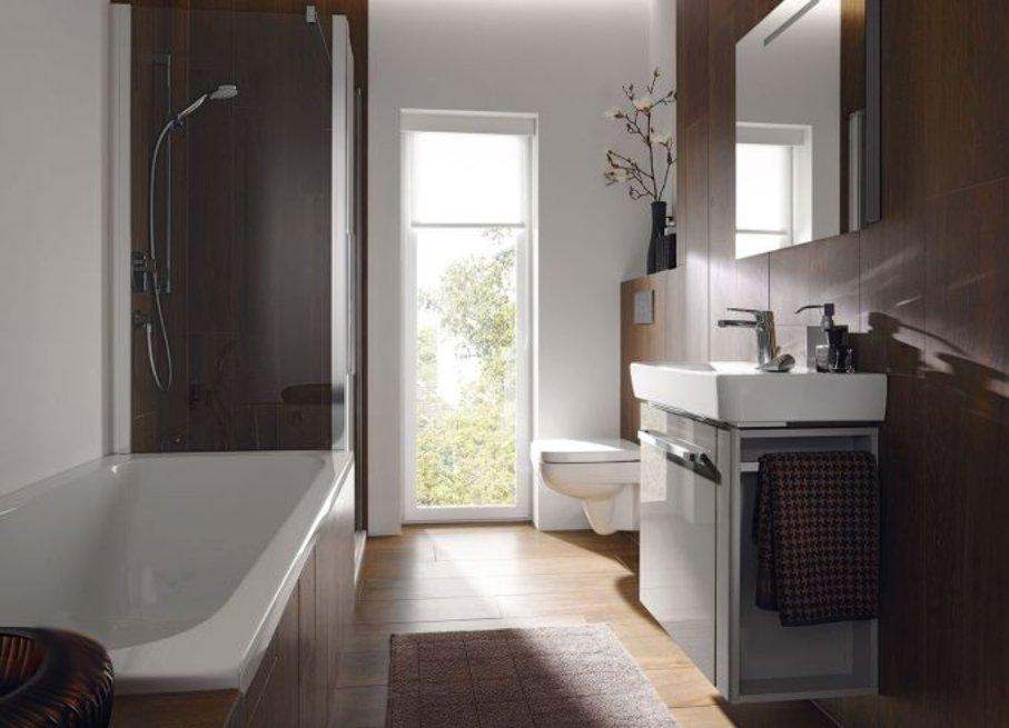 Как маленькие ванные комнаты могут выглядеть большими. Миниформаты санкерамики и мебели позволяют экономить пространство