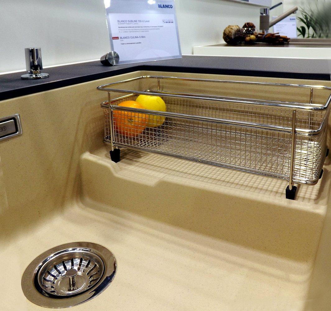 Кухонная мойка SUBLINE 700-U Level и смеситель CULINA-S Mini. Вид А