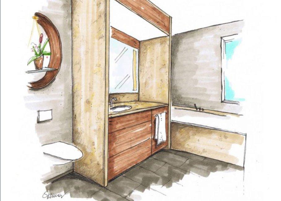 Как маленькие ванные комнаты могут выглядеть большими. Перегородки изменяют восприятие