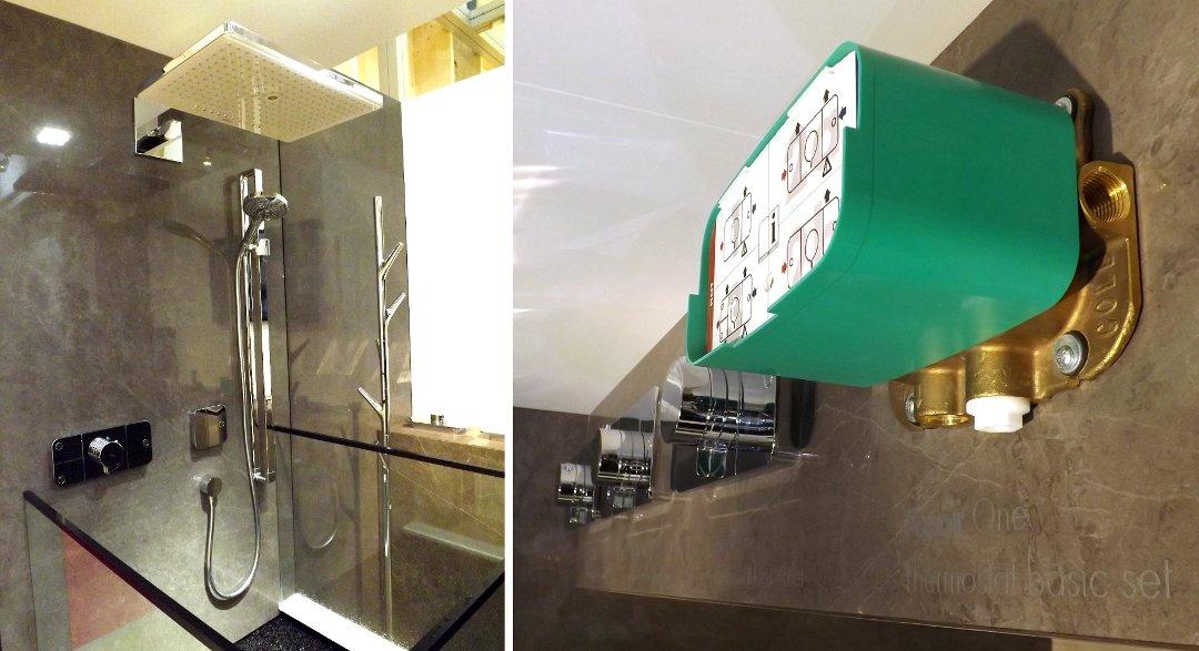 Душевая система с модульным термостатом Axor One на международной строительной выставке «МосБилд 2016»