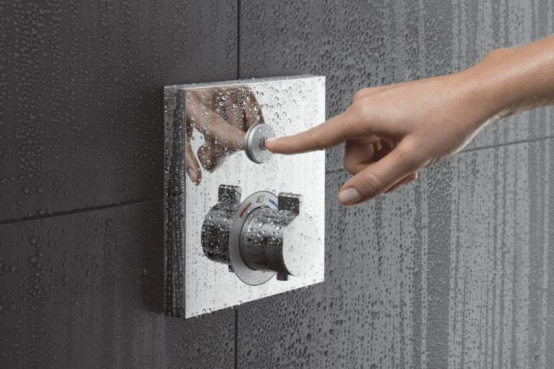 Иллюстрация использования одной из моделей термостатов скрытого монтажа ShowerSelect от Hansgrohe