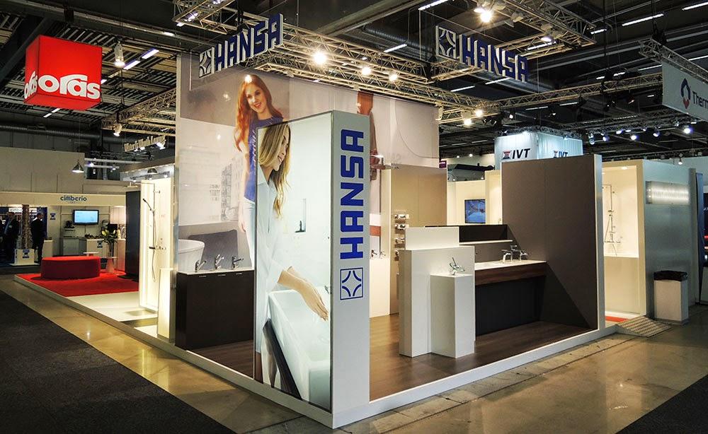 Экспозиции брендов Oras и Hansa на выставке в Швеции весной 2014 года, то есть, после их объединения
