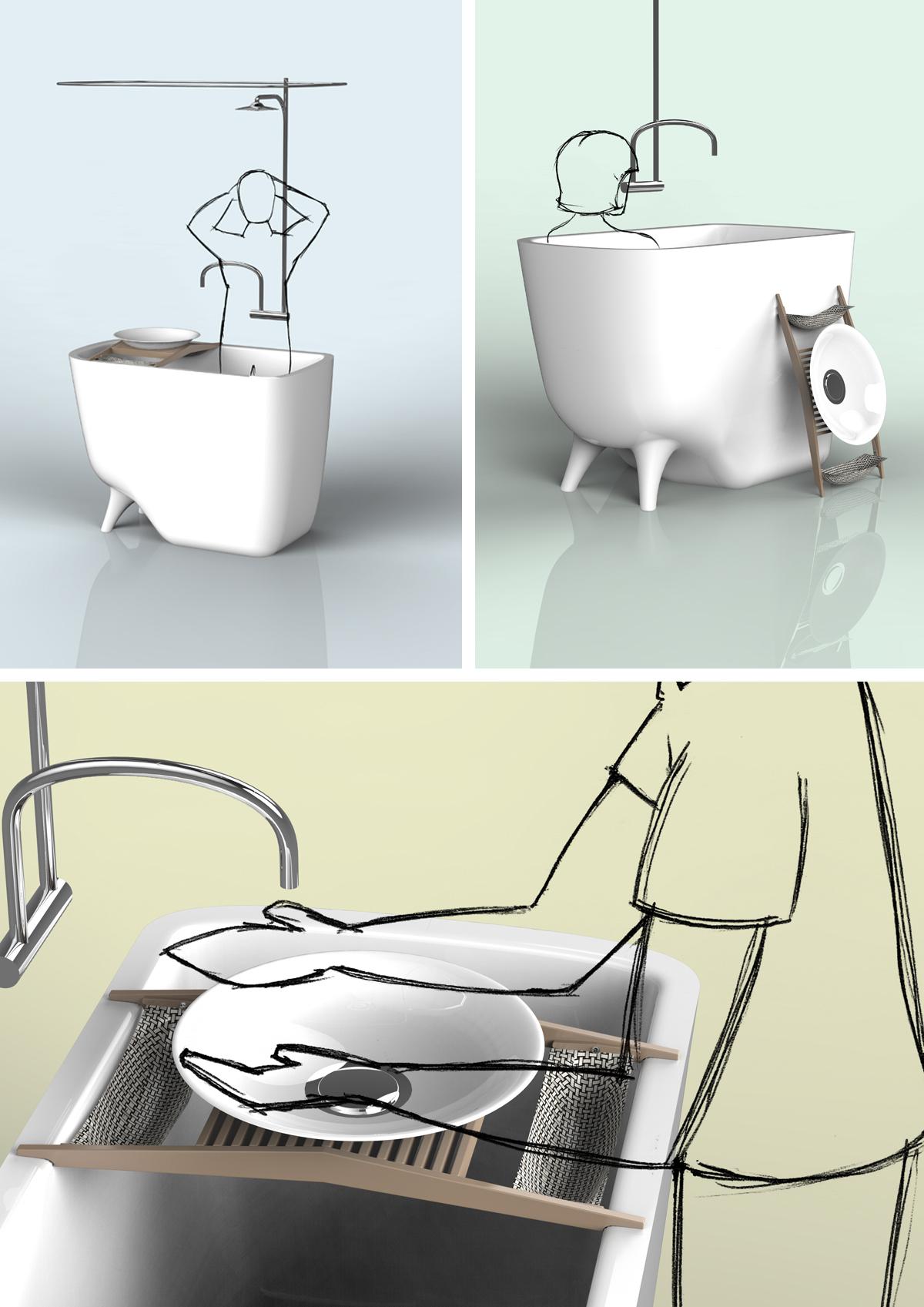 Проект Houdini, избранный в пятёрку лучших на конкурсе Hansgrohe Award 2014: Efficient Water Design