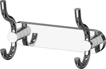 Планка с двумя крючками-вешалками хром ArtWelle HAR 005