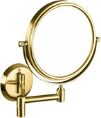 Косметическое зеркало Bemeta Retro, d133мм, без подсветки, золото 106101698
