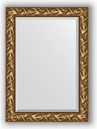 Зеркало с фацетом в багетной раме 79x109см византия золото 99мм Evoform BY 3467