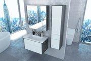 Зеркальный шкаф Roca Ronda 80, белый глянец, антрацит ZRU9302970