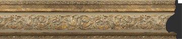 Зеркало с фацетом в багетной раме 60x90см виньетка античная бронза 109мм Evoform BY 3425