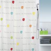 Штора для ванной Spirella Savon De Marseille Canebiere, 180x200см, текстиль, мультиколор 4007277