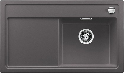 Кухонная мойка чаша справа, крыло справа, с клапаном-автоматом, гранит, тёмная скала Blanco Zenar 45 S-F 519292