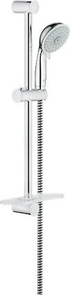 Душевой гарнитур, 4 вида струи, хром Grohe New TEMPESTA Rustic 100 27609000