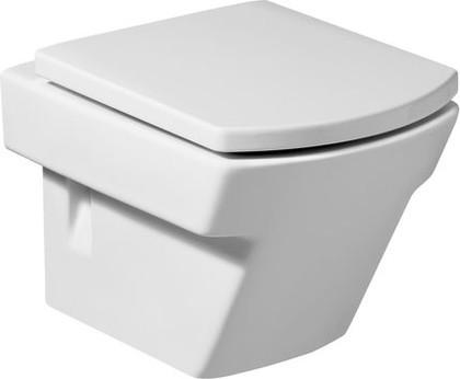 Чаша керамическая подвесная с двойным выпуском, белая Roca HALL 346627000