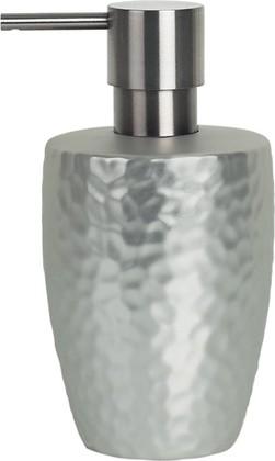 Ёмкость для жидкого мыла с дозатором серебряная Spirella Darwin Hammered 1015339