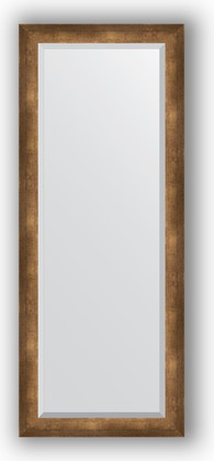 Зеркало 57x142см с фацетом 30мм в багетной раме старая бронза Evoform BY 1168