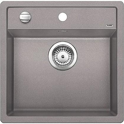 Кухонная мойка без крыла, с клапаном-автоматом, гранит, алюметаллик Blanco Dalago 5 518522