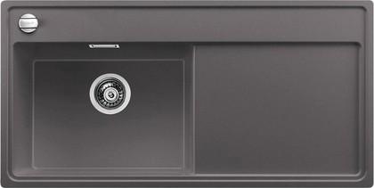 Кухонная мойка чаша слева, крыло справа, с клапаном-автоматом, гранит, тёмная скала Blanco ZENAR XL 6 S 519282