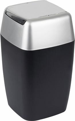 Ведро для мусора 7л цвет чёрное матовое Spirella Retro 1008137