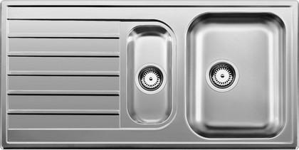 """Кухонная мойка оборачиваемая с крылом, нержавеющая сталь """"декор"""" Blanco Livit 6 S 514797"""