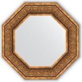 Зеркало Evoform Octagon 594x594 в багетной раме 101мм, вензель бронзовый BY 3838